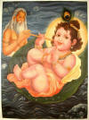 Krishna Floating on the Cosmic Waters